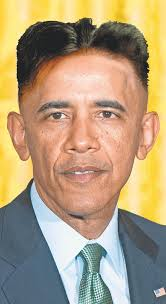 President Barack Obama wearing the Kim Jong-un hairstyle. JR/New York Daily News Kim Jong-Obama ... - president-barack-obama-kim-jong-un-haircut-north-korea