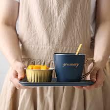 <b>250ml</b> North European <b>Ceramic Cup</b> with Saucer <b>Creative</b> Gold ...
