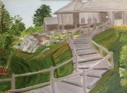 ideas about george w bush artwork on pinterest   artworks    george w  bush painting – winding staircase leading up to a house