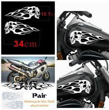 2x <b>skeleton</b> sticker <b>Motorcycle</b> Gas Tank or Car decal 6