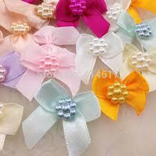 <b>50pcs Mini Satin Ribbon</b> Flowers Bows Gift Craft Wedding ...