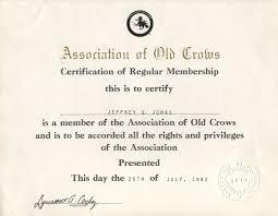 jeffrey jonas certifications degrees diplomas honors association of old crows