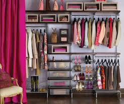 bedroom winsome closet: author winsome feminine bedroom closet organizers design showcasing clothing hanger rods track with open bins over and net basket along with pinky curtains ideas bedroom closet organizers interior design bed