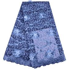 2019 2018 New <b>African Tulle Lace Fabric</b> Sky Blue High Quality 3D ...