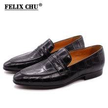 Best value Crocodile <b>Genuine Leather Male</b> Shoes – Great deals on ...