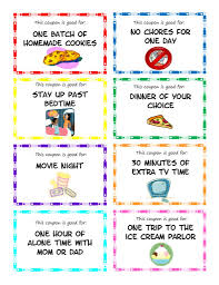 printable kid coupons jars kids rewards and reward coupons printable kid coupons this would make a great reward for good grades completing chores