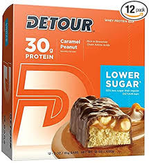 Detour Lower Sugar Whey Protein Bar, Caramel ... - Amazon.com