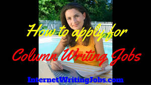 column writing jobs column writing jobs