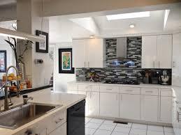 beautiful white kitchen cabinets: small white kitchen cabinet with cool blacksplash custom