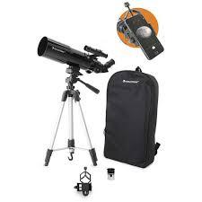 <b>Celestron Travel Scope 80mm</b> f/5 AZ Refractor Telescope Kit 22030