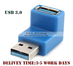 <b>New 90 Degree Right</b> Angle USB 3.0 A Male to Female Extension ...