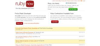 websites for finding ruby development jobs rubynow ruby jobs board