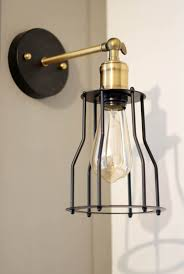 black and gold industrial sconce edison bulb lights economical cheap industrial lighting