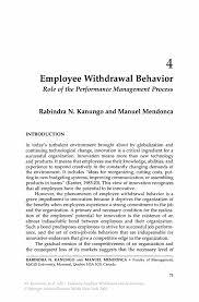 employee drawal behavior springer inside