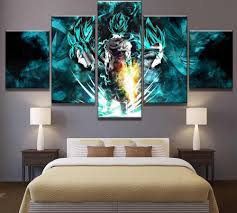 Canvas Painting Prints <b>5 Pieces</b> Cartoon Dragon Ball Z Pictures ...