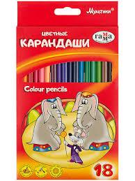 """<b>Карандаши цветные</b> """"<b>Мультики</b>"""", 18цв. <b>Гамма</b>.. 7595205 в ..."""