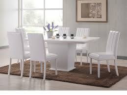 Distressed White Kitchen Table Dining Room Marvelous Round Glass White Dining Table With White
