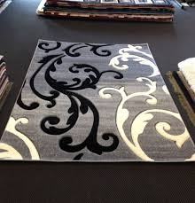 decorative white black and gray area rugs for home with artistic pattern for sale black white rug home