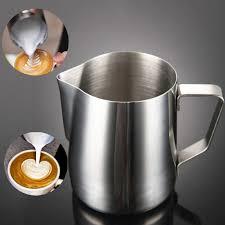 Kitchen Stainless Steel <b>Milk</b> Frothing Jug Espresso Tea <b>Coffee</b> Cup ...