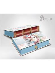 <b>Коробка подарочная</b> ЦВЕТЫ И ПАВЛИНЬИ <b>ПЕРЬЯ</b> M, 20х14х6см ...