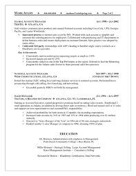 Sales Account Manager Resume Example Resume Resource Territory Sales Account Manager Resume Example