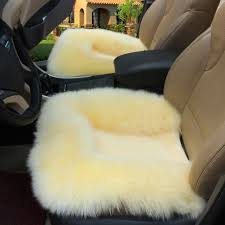 Red Universal Wool Soft Warm Fuzzy <b>Auto Car Seat</b> Covers Front ...