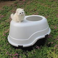 favorite large top entry cat litter box plastic black base white lid cat litter arena kitty litter box