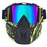Ski <b>Bike Motorcycle</b> Face Mask Goggles Mask <b>Detachable</b> Road ...