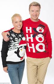 Rochelle Humes and Caroline Flack wear Christmas jumpers for Text ... via Relatably.com