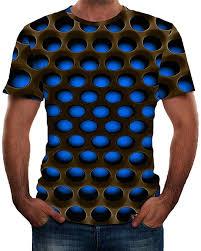 <b>Men</b> 3D Printed Neon <b>T</b>-<b>Shirt 2019 Fashion</b> Graphic Shirt Short ...