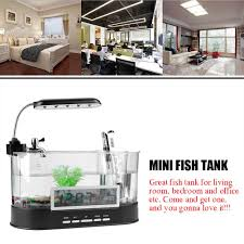 Mini Fish Tank Multifunctional <b>USB Rechargeable Mini</b> Fish Tank ...