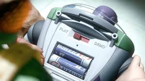 In Toy Story 3 (2010) <b>Buzz Lightyear's</b> batteries are exposed ...