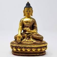 Vintage - <b>Tibetan</b> Buddhism <b>Copper Gilt</b> Hand Painted 4 ...