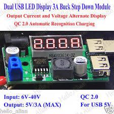 DC-DC Buck Step Down Converter 6V-<b>40V</b> to 5V 3A <b>Dual USB</b> ...