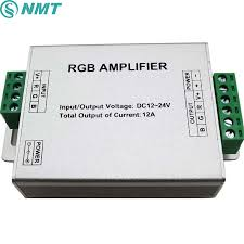 <b>DC 12V</b> 24V Aluminum LED RGB Strip Amplifier <b>12A 3</b>*4A Channel ...