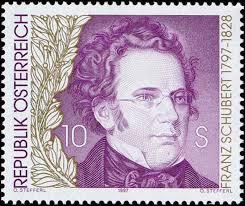 Geburtstag von Franz Schubert#. Sonderpostmarkensatz. Der am 31. Jänner 1797 in Wien geborene Schubert erhielt im Akademischen Gymnasium den besten ... - RedakII_970509b_1