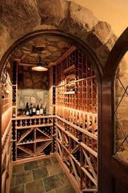 combined custom and prefabricated cellar made of ready to order components that come in mahogany wine cellars traditional wine cellar