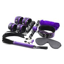 <b>8PCS</b> Lot Purple Mix Color Pu Leather <b>Bondage Restraints</b> Adult ...
