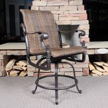 bar height patio chair: florence woven balcony stool by gensun