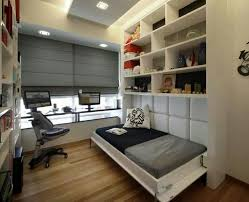 bedroom home office. home decor ideas bedroom for an office that doubles as a guest room photograph inspiring beds small spaces with lighting image pic