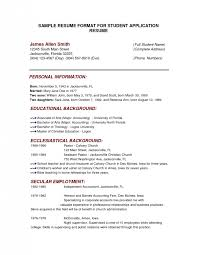 Example Resume  College Admission Resume Template  College
