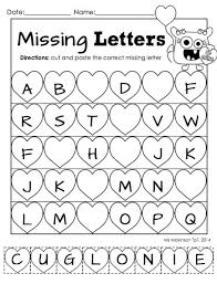 """Kindergarten literacy, Cut and paste and Literacy on PinterestFebruary Printable Packet - Kindergarten Literacy and Math. Missing letter """"cut and paste"""""""