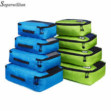 Soperwillton Compression <b>Packing Cubes</b> Toiletry <b>Bag</b> Set Nylon ...