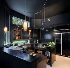 dark contemporary kitchen 2015 black lacquered wood kitchen island with bookshelves ovale yellow pendant light gray beautiful modern kitchen lighting pendants yellow