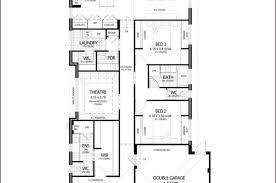 Single Story Narrow Lot House Plans  floor plans for narrow blocks    Single Story Narrow Lot House Plans