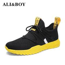 <b>2019</b> New 4d Print <b>Men Running Shoes</b> Breathable Fly Weave ...