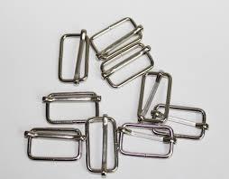 25mm 1in <b>Silver Webbing Adjustment Buckle</b> Suspenders Buckles ...