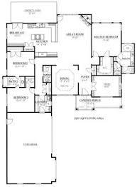 L shaped house  L shaped house plans and House plans on PinterestFirst Floor Plan of Ranch Craftsman House Plan   This is the floor plan to
