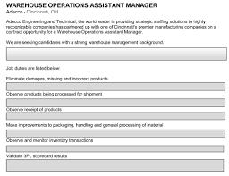 job description of warehouse assistant tk job description of warehouse assistant