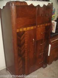vintage 1930 art deco bedroom waterfall furniture armoire closet wardrobe 1920 ebay antique art deco bedroom furniture